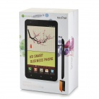 "i9977 Android 4.0 WCDMA Bar Phone w/ 6.0"" Capacitive Screen, Wi-Fi, GPS and Dual-SIM - White"