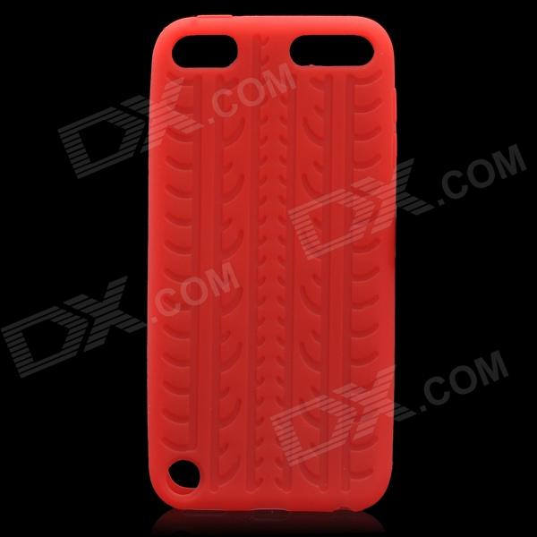 protective soft silicone back case for ipod touch 5 orange Anti-Slip Tyre Tread Pattern Protective Silicone Back Case for Ipod Touch 5 - Red