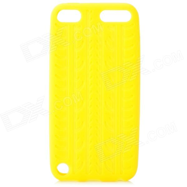 protective soft silicone back case for ipod touch 5 orange Antiskid Tread Protective Silicone Soft Back Case for Ipod Touch 5 - Yellow