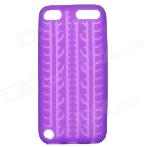 protective soft silicone back case for ipod touch 5 orange Tire Pattern Protective Soft Silicone Back Case for Ipod Touch 5 - Purple