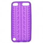 Tire Pattern Protective Soft Silicone Back Case for Ipod Touch 5 - Purple