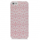 Protective Belt Pattern ABS Back Case for Iphone 5 - Red + White