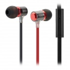 XKDUN CK-820 Stylish In-Ear Earphone w/ Microphone - Red + Black (3.5MM Plug)