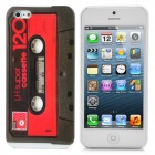 Classic Cassette Tape Style Protective Plastic Case with Screen Protector for iPhone 5 - Red + Grey