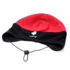 Hasky XQQ-MZ-47 Fashion Protective Fleeces Fabrics Ear Hat - Red + Black