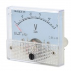 HUA 85C1 Analogue DC 50V Voltage Panel Meter - Light Blue + White