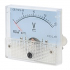 HUA 85C1 Analogue DC 20V Voltage Panel Meter - Light Blue + White