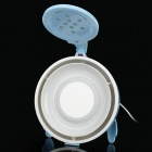 2-in-1 USB Powered 2-Mode Fan w/ 10-LED Light / Mirror - Light Blue + White