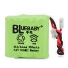 BLUEBABY H-2/3AAA 3.6V 350mAh Rechargeable NiMH Battery - Green