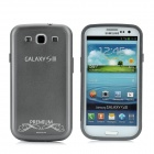Replacement Battery Cover-Rückseite Case w / Screen Protector für Samsung Galaxy S3 i9300 - Silver Grey