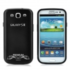 Replacement Battery Back Cover Case w/ Screen Protector for Samsung Galaxy S3 i9300 - Black