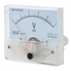 HUA 85C1 Analogue DC 5V Voltage Panel Meter - Light Blue + White