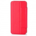 PG005 Protective PU Leather Cover Plastic Hard Back Case for Iphone 5 - Red