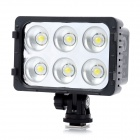 ZIFON T6-A 16W 5600K / 3200K 1300lm 6-LED Video Light - Black (1 x F550)