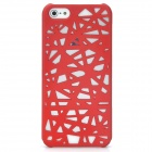 Bird's Nest Style Protective Plastic Back Case for Iphone 5 - Dark Red
