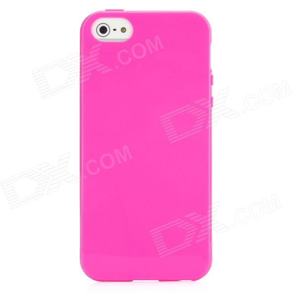 Matte + Glossy Style Protective Plastic Back Case for Iphone 5 - Pink cartoon pattern matte protective abs back case for iphone 4 4s deep pink
