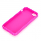 Matte + Glossy Style Protective Plastic Back Case for Iphone 5 - Pink