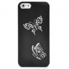 Butterfly Pattern Protective Back Case for iPhone 5 - Black