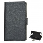Protective PU Leder Top Flip-Open Case für Samsung N7100 Galaxy Note 2 - Black