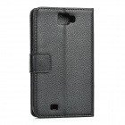 Protective PU Leather Top Flip-Open Case for Samsung N7100 Galaxy Note 2 - Black