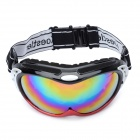 Fashion Skiing Glasses / Goggles - Red + Black + Silver