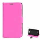 Protective PU Leather Case for Samsung Galaxy Note 2 N7100 - Deep Pink