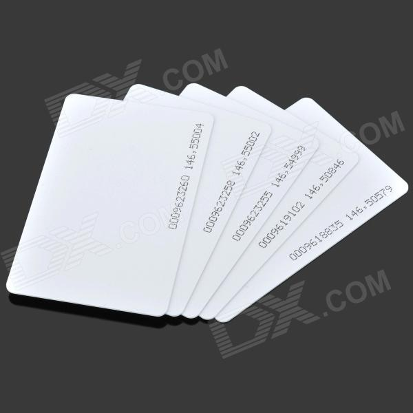 PC001 TK4100COB Blank ID Cards - White (Slim Version / 5 PCS)
