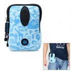 TINDO 3004 Multi-Function Neoprene Water Resistant Waist Bag w/ Carabiner Clip - Light Blue