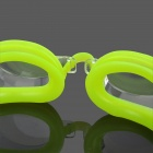 3-in-1 Standard Wide View Swim Goggles Set - Green Yellow