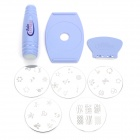 Nail Art DIY Print Pattern Manicure Machine Stamper Set - Pigeon Blue