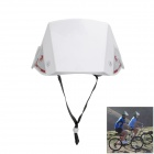 Folding Emergency Disaster Prevention Cap - White