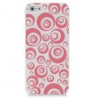 Protective Circle Pattern ABS zurück Fall für iPhone 5 - Red + White