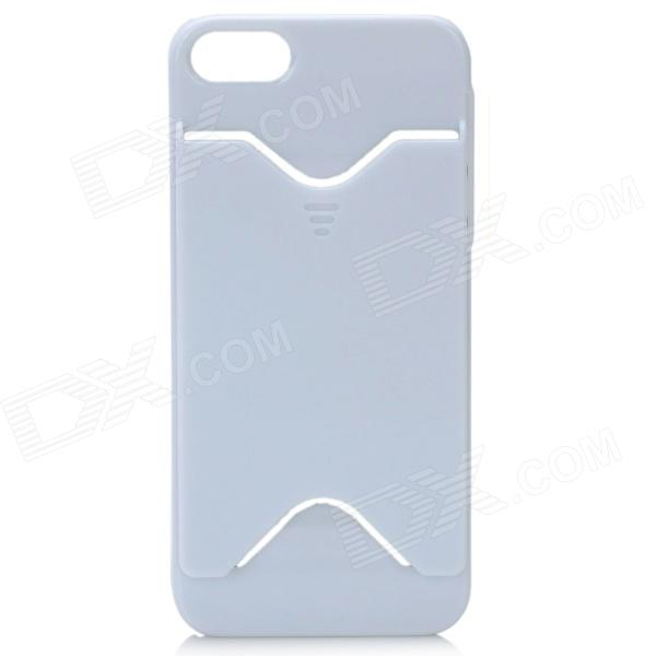 Protective Plastic Back Case w/ Card Holder for Iphone 5 - White радиотелефон panasonic kx tge110rub