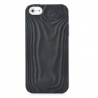 Baum Grain Stil Protective TPU Case für iPhone 5 - Black