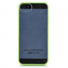 PG004 Protective Silicone Hard Back Case for Iphone 5 - Green + Transparent