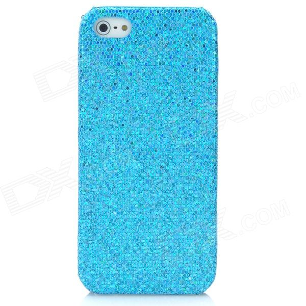 Protective Glittery Paillette Plastic Back Case for Iphone 5 - Blue nillkin protective matte plastic back case w screen protector for iphone 6 4 7 golden