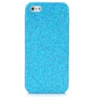 Protective Glittery Paillette Plastic Back Case for Iphone 5 - Blue
