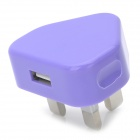 Zy-04 USB Power Adapter / Charger for iPhone / iPod - Purple (100~240V / UK Plug)
