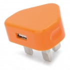 Zy-04 USB Power Adapter / Ladegerät für iPhone / iPod - Orange (100 ~ 240V / UK-Stecker)