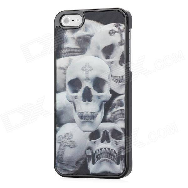 3D Cross Skeleton Style Protective Plastic Back Case for Iphone 5 - Grey