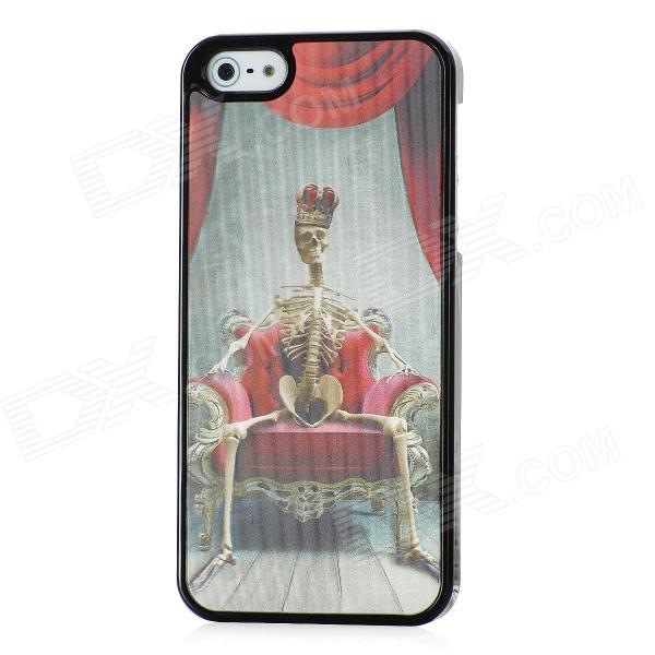 Vivid 3D Skeleton King Pattern Protective Plastic Back Case for Iphone 5 - Black + Red