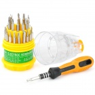 FK-6036 32-in-1 Precision Screwdrivers Set - Yellow + Black