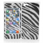 Zebra-Stripe Pattern Protective Front + Back Skin Protector Sticker Set for Iphone 5
