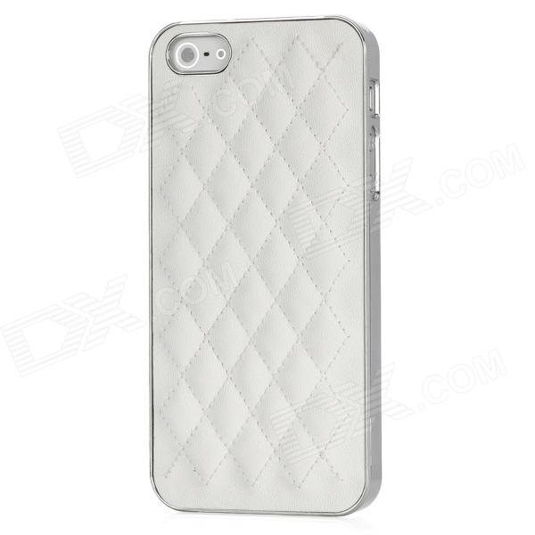 Net Pattern Protective PU Leather + Plastic Back Case for Iphone 5 - White - DXLeather Cases<br>Quantity 1 Piece Color White Material PU Leather + plastic Compatible Models Iphone 5 Other Features Protects your device from scratches dirt and bumps as well as being shock-proof; Easy to install and unload; Easy access to all ports controls and buttons; Personalize design makes your cell phone different Packing List 1 x Protective case<br>