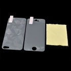 3D Diamond Sharp Front Screen + Back Protector Guards w/ Cleaning Cloth for Iphone 5 - Transparent