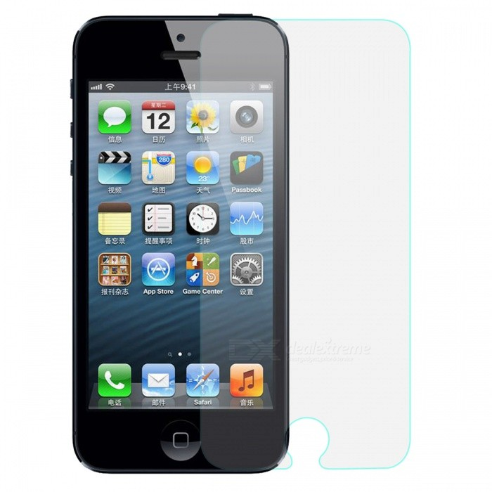 Protective Mirror Screen Protector Guard Film w/ Cleaning Cloth for Iphone 5