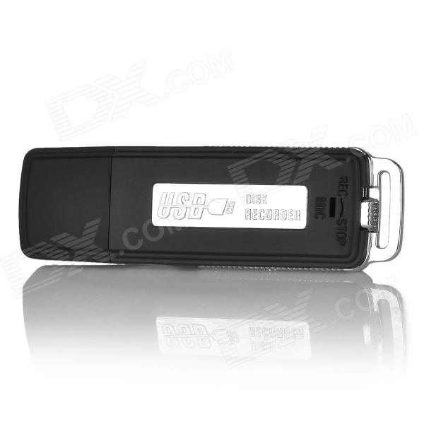 UR-08 USB Flash Drive Type Voice Recorder - Black + Silver (8GB)