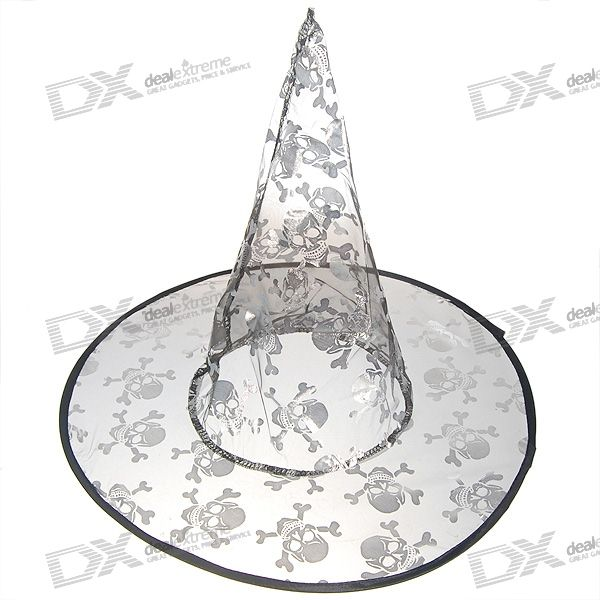 Halloween Witch's Pointy Hat (Silver)