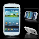 IP42 S Style Protective Plastic Back Case Stand for Samsung Galaxy S3 i9300 - Transparent