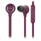 HTC J Z321e / ISW13HT 3.5mm Plug In-Ear Earphones w/ Microphone - Deep Purple (120cm)